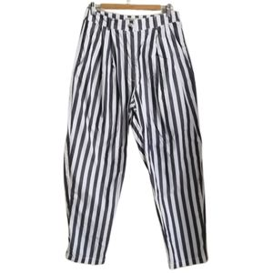 UO Blue & White Vertical Strippes Oversized Pants